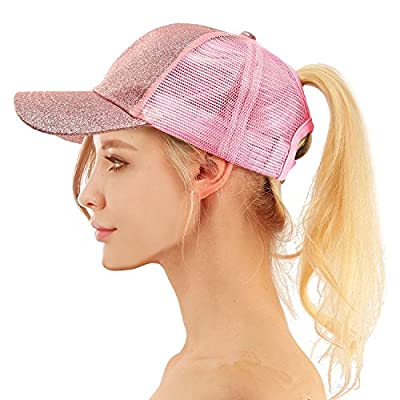 Lueyif Womens Ponytail Baseball Cap Mess Pony Caps Unisex Adjustable Visor Hats