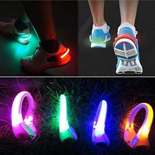 Clips Dastrues Usb Pied Chaussures Course Clip Led Lumineux Light Sécurité De Sports Antidérapant À Bleu Réfléchissant 1q1wT6r