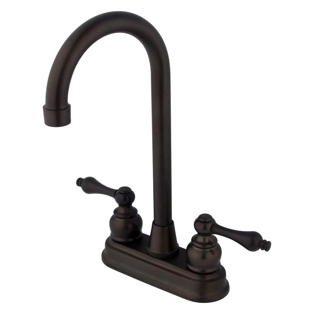 Kingston Brass KB495AL Victorian High-Arch Bar Faucet, 4-3/4'', Oil Rubbed Bronze