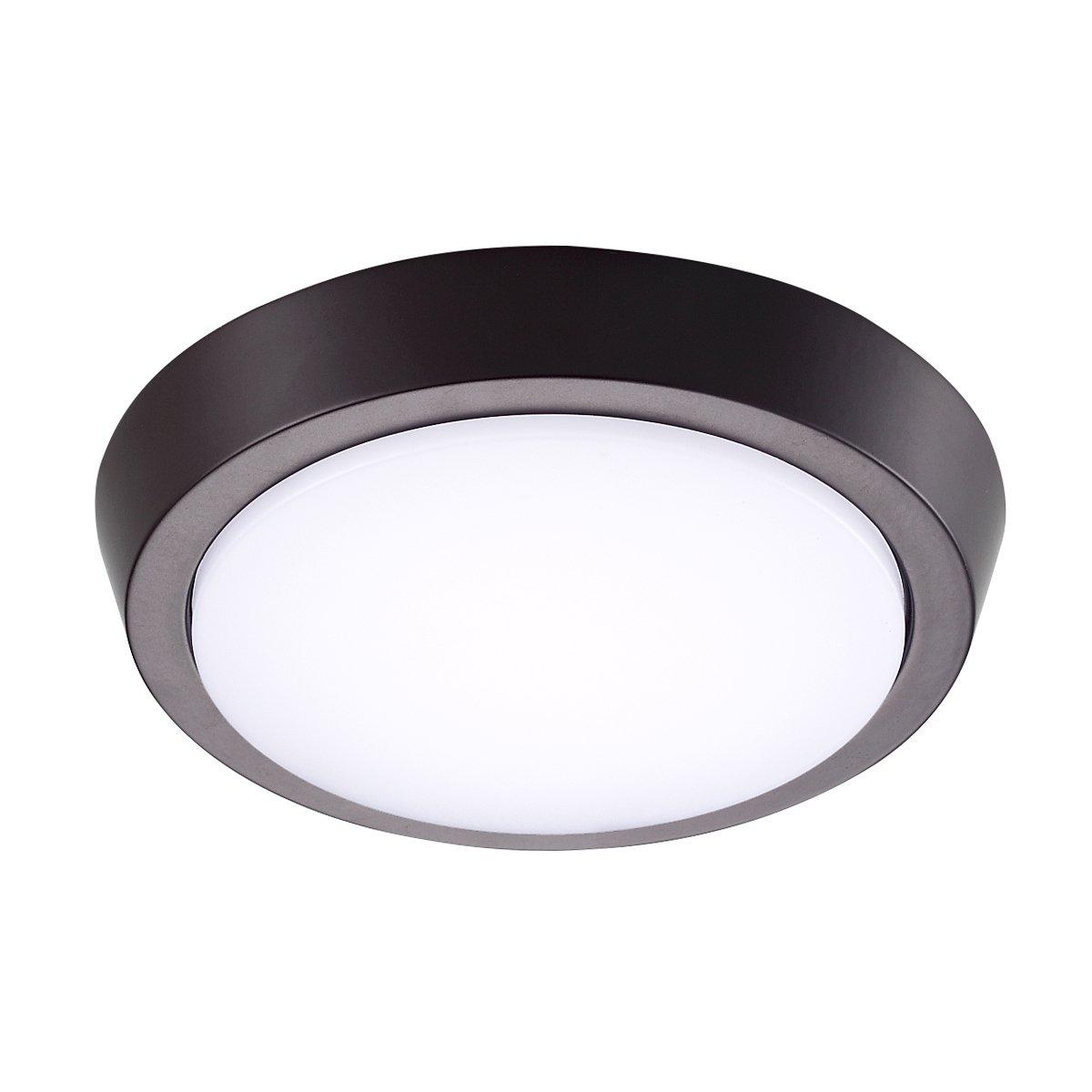 GetInLight 7 Inch Flush Mount LED Ceiling Light with ETL Listed, Bright White 4000K, Bronze Finish, IN-0302-2-BZ-40