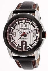 Jorg Gray Leather Black Dial Men's watch #JG9400-21