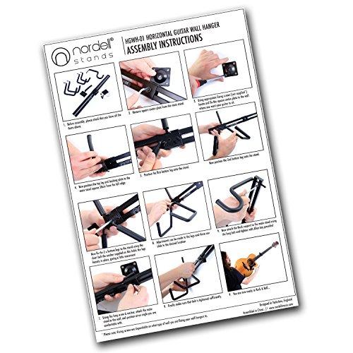 Soporte de pared horizontal para guitarras eléctricas, acústicas, bajos y ukeleles: Amazon.es: Instrumentos musicales