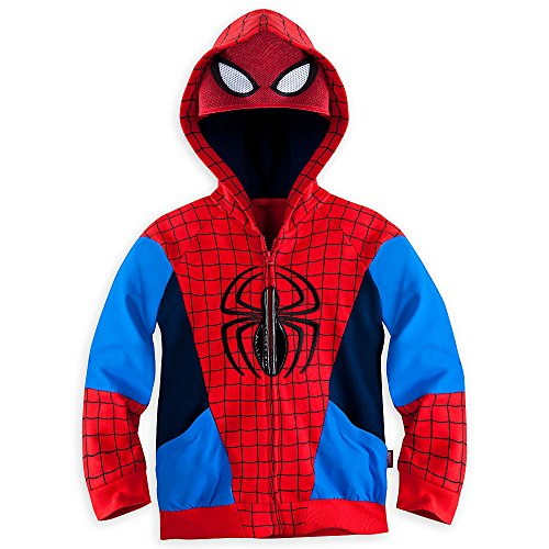 Disney Store Boys Spiderman Spider Man Hoodie Jacket Sweatshirt Small 5 - 6 5T