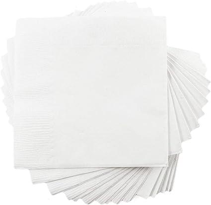 Jam Paper Small Beverage Napkins 5 X 5 White 50 Pack Kitchen Dining Amazon Com