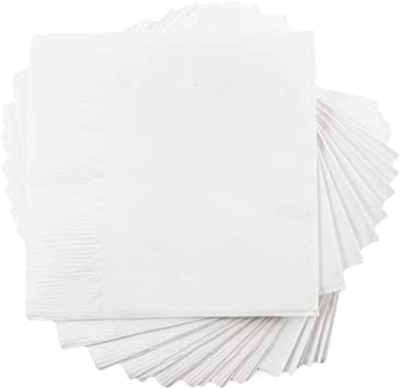 5 Paper Party Napkins Pansy all over White  Pack Of 5 3 Ply Tissue Serviettes