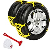 #4: Anti Slip Tire Chains Snow Tire Chains Adjustable Car Tire Snow Chains Emergency Anti Slip Chain Fit for Most Car/SUV/Truck