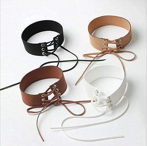 Ricisung Halskette Halskette Halskette mit breitem Samt, Spitze, personalisierbar B01MY6E6ST | Zart  d9f506
