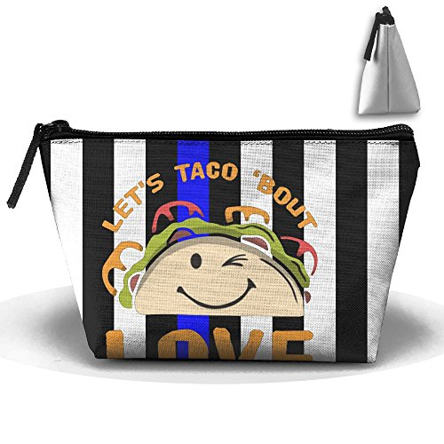 5fea513c0eb8 JF-X Love Tacos Valentine's Day Trapezoid Receive Bag Makeup Bag Home  Office Travel Cases For Valentine's Day