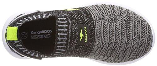 KangaROOS Unisex-Kinder W-600 Kids Sneaker Schwarz (Jet Black/Lime)