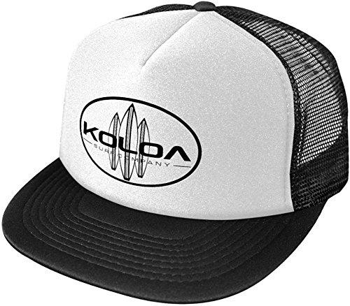 Koloa Surf Classic Surfboards High Profile Poly-Foam Trucker Hat-Blackwhite/b