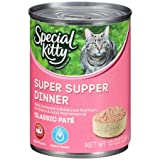 (13oz, Pack of 24), Special Kitty Classic Pate Super Supper Dinner Wet Cat Food