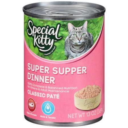 (13oz, Pack of 24), Special Kitty Classic Pate Super Supper Dinner Wet Cat Food by Special Kitty
