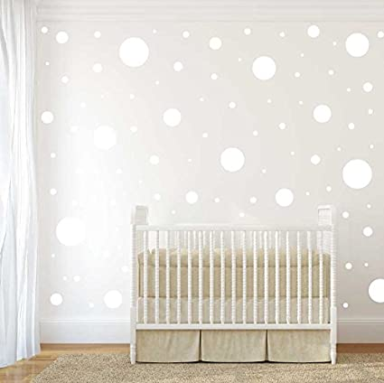 Amazoncom Assorted Size Polka Dot Decals Repositionable Peel And