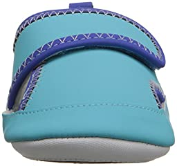 Robeez Wade Hard Sole Mini Shoe (Infant), Blue, 12-18 Months M US