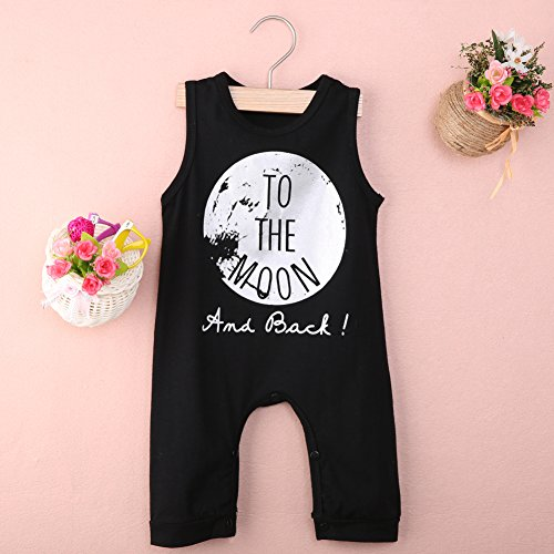 BiggerStore Infant Baby Girls Boys Sleeveless Romper Summer Jumpsuit Bodysuit Cool Clothes