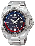 Seiko Velatura Stainless Steel GMT Kinetic Mens Watch SUN011P1, Watch Central