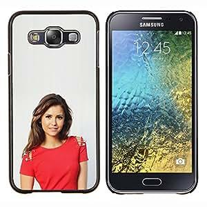Niña bonita- Metal de aluminio y de plástico duro Caja del teléfono - Negro - Samsung Galaxy E5 / SM-E500