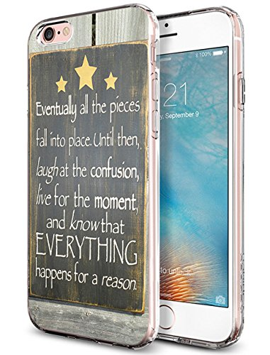 Lakaka Bumper Case iPhone 6 Plus 5.5 Inch Eventually All the Pieces Fall into Place Until then Laugh at the Confusion Live for the Moment and Know the Everything Happens for a Reason