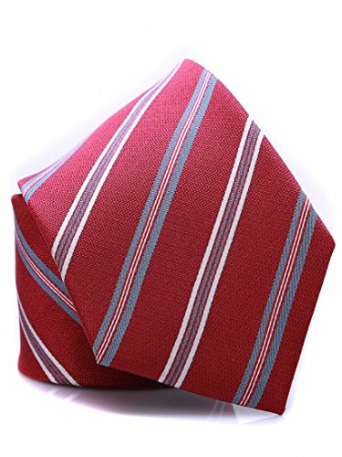 Red and Striped for with Men tie pattern silk Prettystern elegant woven Sk03 Classical BwqBvU