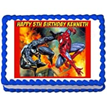 SPIDERMAN AND VENOM party decoration edible cake image cake topper