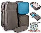 Foldable mini crib that becomes a compact easy-to-carry diaper bag. Bundled With Wet and Dry Reusable Cloth Bag.