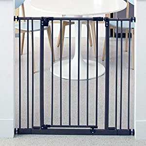 """Toddleroo by North States 38.5"""" Wide Extra Tall Easy Close Baby Gate: Sturdy Safety gate with one Hand Operation. Pressure Mount. Fits 28-38.5"""" Wide. (36"""" Tall, Bronze)"""