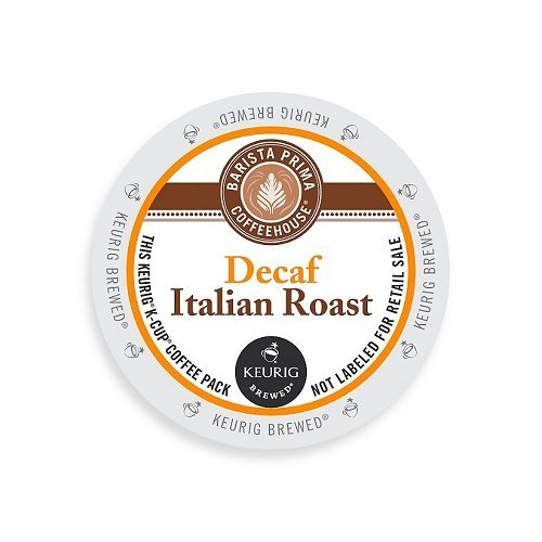 Barista Prima Coffeehouse Dark Roast Extra Bold K-Cup for Keurig Brewers, Decaf Italian Roast Coffee,4 pack of 24 cups each (96 count) by Barista Prima