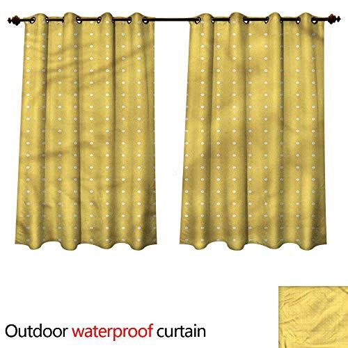 cobeDecor Trellis Home Patio Outdoor Curtain Oriental Arabic Art Design W63 x L72(160cm x 183cm) ()
