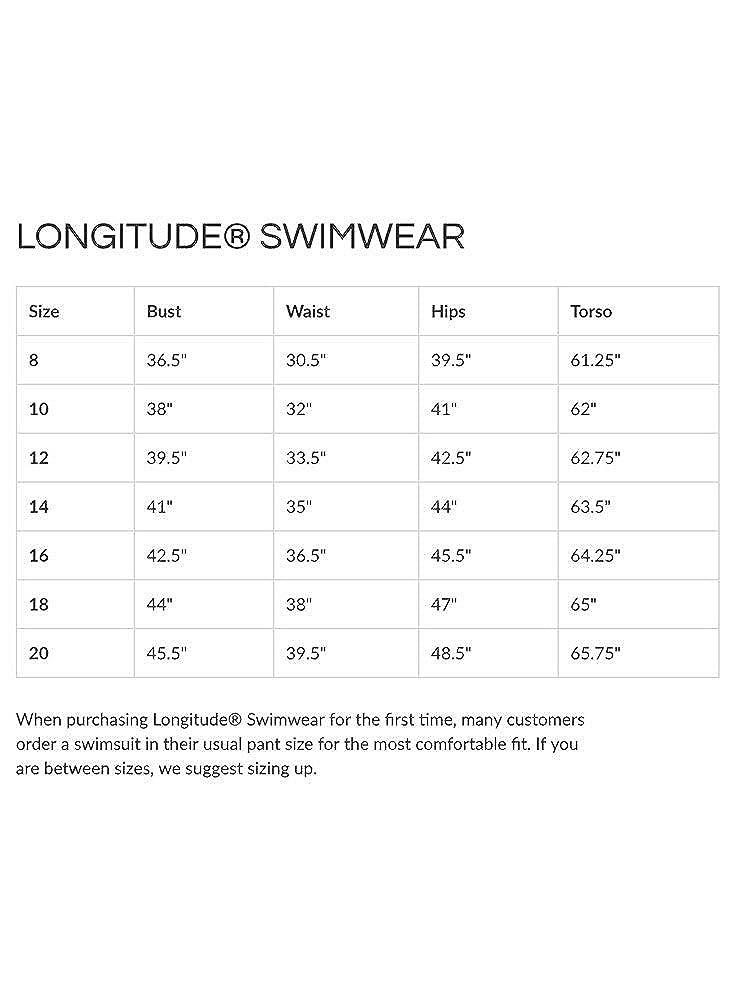 Longitude Womens Plus Size Swimwear Amalfi Surplice Ruffle Tummy Control Long Torso One Piece Swimsuit