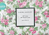 Laura Ashley Iona Pink Floral Rose Sheet Set, Queen