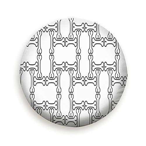 YANAIX Dog Bone Halloween Animals Spare Wheel Tire Cover 14inch