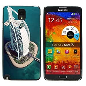 Graphic4You Burj Al Arab Dubai Postcard Design Hard Case Cover for Samsung Galaxy Note 3 wangjiang maoyi