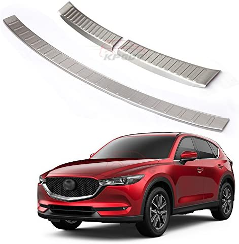 Fit for All New Mazda CX5 CX-5 2017 2018 2019 Stainless Steel Rear Door Plate Bumper Cover Bar Sill Trim Black
