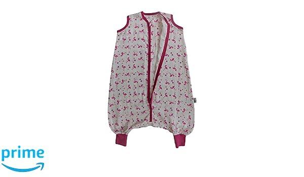 Slumbersac Saco de dormir de verano con pies 0.5 Tog - Bamboo Muslin Flamingo - 3-4 años/110cm: Amazon.es: Bebé