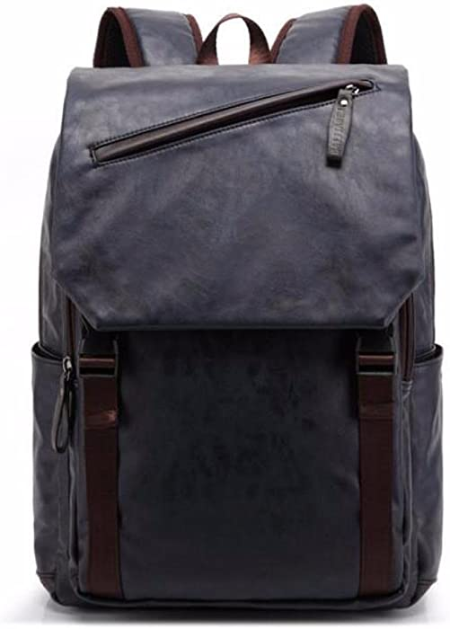 BAIJIAWEI 2017 Oil Wax Leather Backpack Mens Casual & Travel Bags Leather Laptop Bag College Style