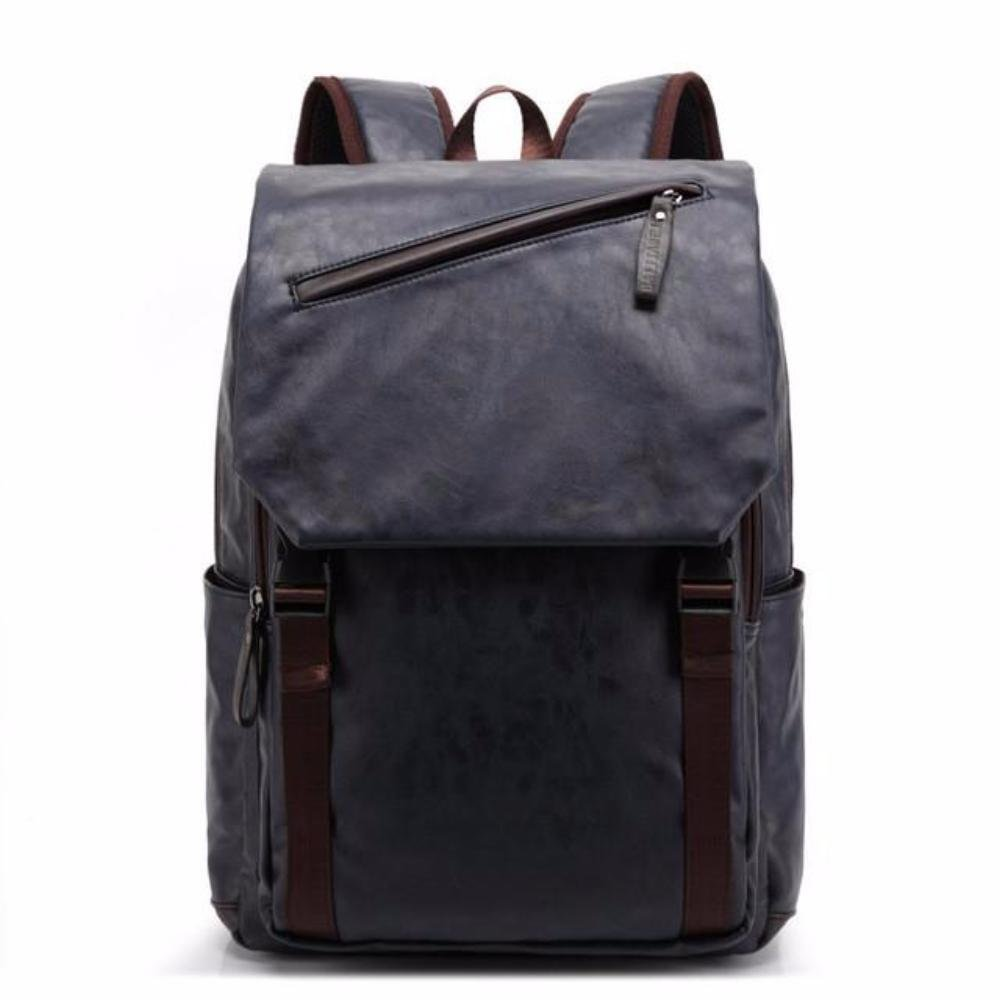 b6796e838f Amazon.com  BAIJIAWEI 2017 Oil Wax Leather Backpack Men s Casual   Travel  Bags Leather Laptop Bag College Style Backpacks Mochila Zip Men  Clothing