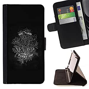 Momo Phone Case / Flip Funda de Cuero Case Cover - Reciente inspiradora motivación texto - Huawei Ascend P8 Lite (Not for Normal P8)
