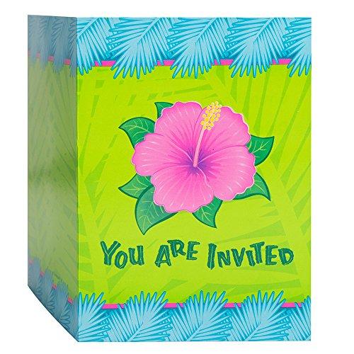 Tropical Bloom Luau Invitations, 8ct