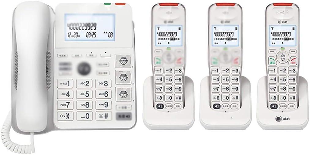 ZYFA Teléfono Fijo 3,5-Pulgadas de Pantalla teléfono inalámbrico, con el botón Grande Grande Tono, 3 Grupos de imágenes de marcación rápida, Hearing Aid Compatible for Personas Mayores: Amazon.es: Hogar