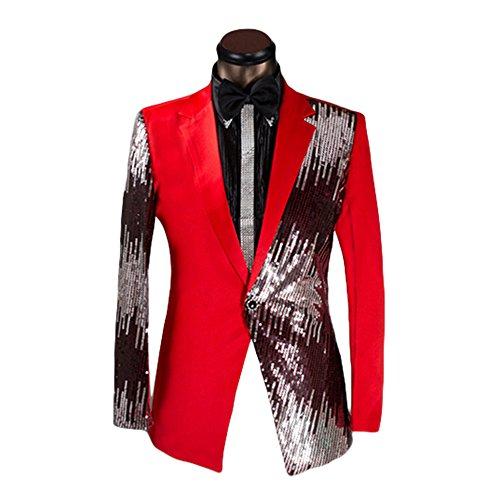 Men's 2-Piece Suit Casual One Button Slim Fit Blazer Stylish Sport Coat & Trousers