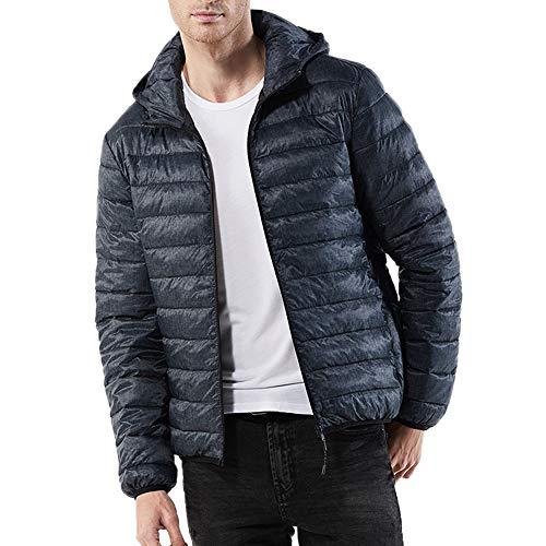 Capuche Blouse Cotton Plus À manteau Doudoune Homme Casual Longues Veste Chaud Manteaux Automne Épais En Top Amuster Gris Zipper Hiver Manches Coton w8qTg