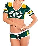 Sexy Womens Short Sleeve Fantasy Football Costume