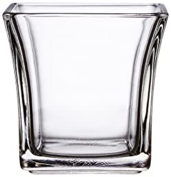 Anchor Hocking 4-Inch Flared Square Votive Candle Holder, Pack of 6