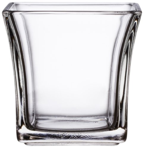 Anchor Hocking 99005 4-Inch Flared Square Votive Candle Holder, Pack of 6 ()