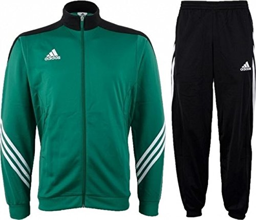 b0acd993f4f4 Adidas Tracksuit Woven Soccer RefSuit Track Top Pants Training Black Green  G90430