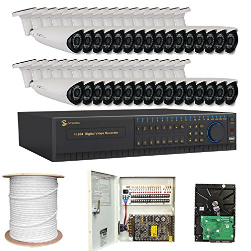 Professional-32-Channel-H264-960H-Realtime-DVR-Security-Camera-System-with-32-x-13-HDIS-CCD-Security-Camera-650TV-Line-36mm-Lens-36PCS-Infrared-LED-82-feet-IR-distance