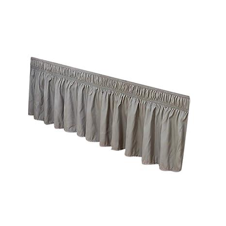 Falda plisada para cama de Crylee, de algodón, elástica, moderna ...