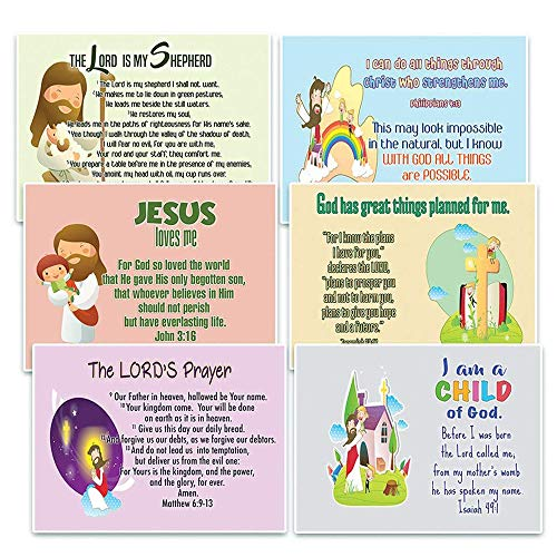 NewEights Christian Postcards Cards for Kids (60 Pack) with encouraging bible messages - Great stocking stuffers for postcard collectors, Postcrossing, scrapbooking, gifts, invitations, note to friend