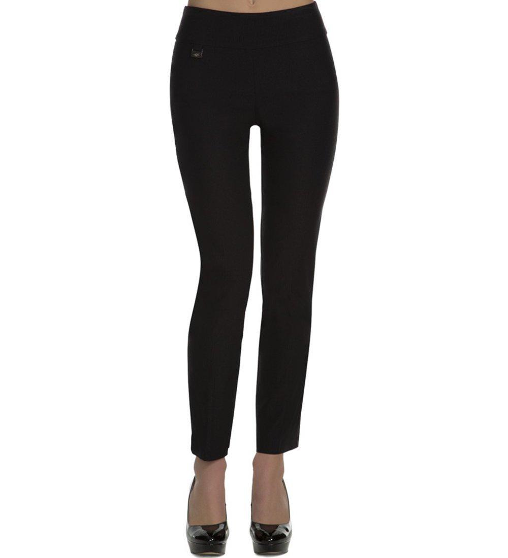 Lisette L Montreal Women's Solid Magical Lycra Ankle Pants Black 12
