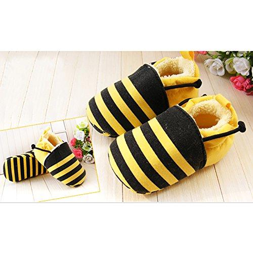 FreeFisher Lauflernschuhe, Krabbelschuhe, Babyschuhe mit Futter- in vielen Designs, Biene , 11cm
